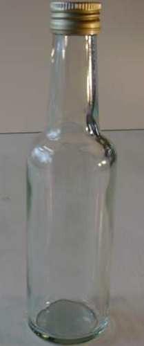 Glasflasche, mit Schraubverschluß golden