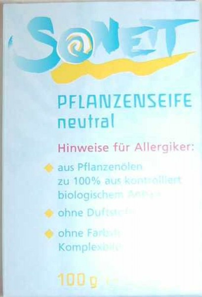 SONETT Seife Neutral, Stück, Bio