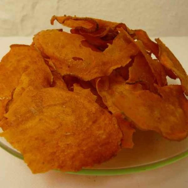 Gesunde Chips Natur 65g, Bio Süsskartoffelchips Roh