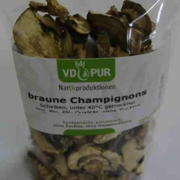 Champignons, ganze, 40g, Bio Roh
