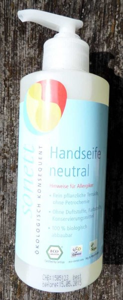 SONETT Handseife Neutral, Bio, 300ml