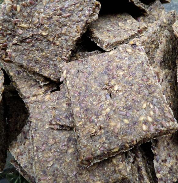 Rohkost- Cräcker, glutenfrei, Bio, Leinsaat Chia 100g