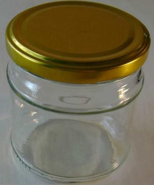 Glas mit Schraubdeckel Gold, Weithals