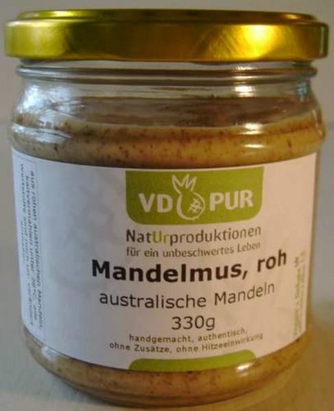 rohes Mandelmus aus ganzen Mandeln, 330g, Bio