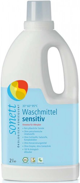 SONET Waschmittel Neutral, 2 Liter- Flasche, Bio