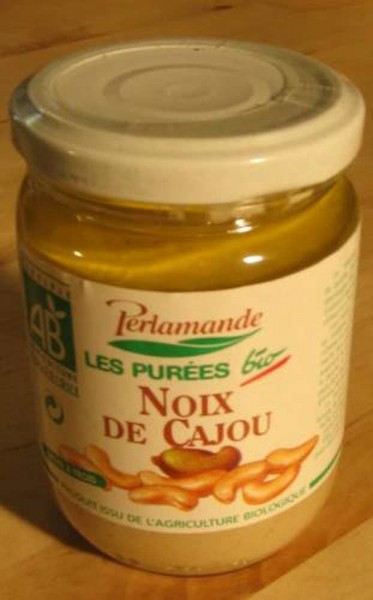 Cashew- Mus, weiß, roh, 300g, Bio Perlamande